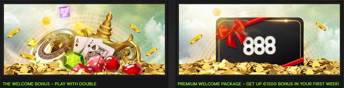 Welcome packages at 888 casino